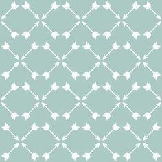 Deep Mint Arrows fabric by mrshervi on Spoonflower - custom fabric