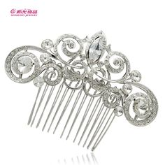 Dossy Clear Rhinestone Crystal Bridal Wedding Coil Flower Hair Comb Zircon for sale online Hair Accessories For Women, Wedding Hair Accessories, Vintage Rhinestone, Crystal Rhinestone, Hair Jewelry, Jewelry Sets, Jewelry Accessories, Flowers In Hair, Flower Hair