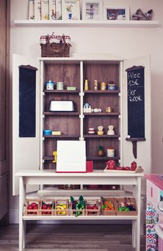 kaufladen on pinterest play market ikea hacks and play food. Black Bedroom Furniture Sets. Home Design Ideas