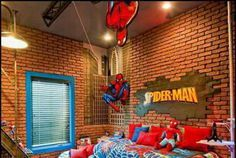 #SpiderMan bedroom for little web slingers!  #bedroomdesign