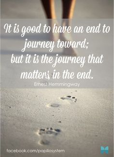 don't forget to enjoy the journey