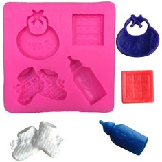 Baby Bottle and Bib Silicone Mold