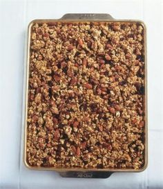 From Nigella Lawson, Andy's Fairfield Granola. Making this with 8 friends this week.