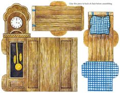 Grandfather Clock The Ginghams Visit Grandma Paper Furniture, Doll Furniture, Dollhouse Furniture, Paper Doll House, Paper Houses, Diy Dollhouse, Dollhouse Miniatures, Paper Toys, Paper Crafts