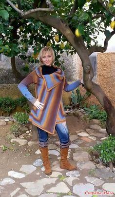 Кардиган -шаль из кауни.