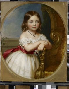 "Victoria, Princess Royal was about four years old when this portrait was painted. The Duchess of Kent, Queen Victoria's mother, was so…"" Queen Victoria Children, Queen Victoria Family, Queen Victoria Prince Albert, Victoria And Albert, Princess Victoria, Reine Victoria, Victoria Reign, Queen Victoria's Mother, Comic Art"