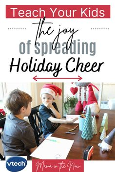 You won't believe how this family with four boys teaches their kids the joy of spreading holiday cheer. (#AD) Number 4 on this list brought tears to my eyes. These family-fun activities are perfect for this Christmas season. The crafts for kids, care packages for relatives and the holiday inspiration in this post is everything you need. #VTechToys #VTech #ToysforKids #Holidays #Christmas #ChristmasTraditions #HolidayCheer #Parenting #RaisingKindKids #RAOK @VTechToys Happy Christmas HAPPY CHRISTMAS | IN.PINTEREST.COM #WALLPAPER #EDUCRATSWEB
