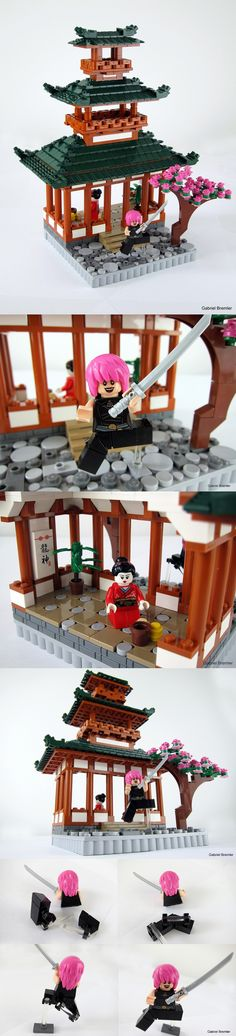 Japanese Teahouse made of LEGO. I've gotta learn to do this!