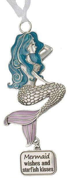 Mermaid Wishes and Starfish Kisses Ornament Mermaid Gifts, Under The Sea, Starfish, Unicorns, Mermaids, Fairies, Dragons, Wish, Ornaments