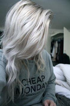 Haarkleur blond grijs