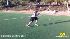 L Drill NFL Combine Style