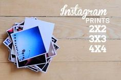 Persnickety Prints - Print Instagrams in several sizes. Also grab some free Photoshop templates.