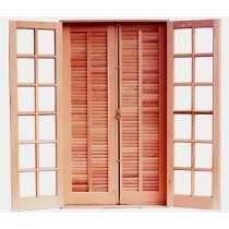 Porta Balcão De Madeira - 2,10 (a) X 1,20 (l) Sem Ferragens