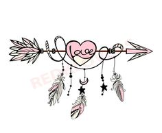 SVG DXF silhouette feather arrow dreamcatcher boho native love scrapbook digital … - Famous Last Words Atrapasueños Tattoo, Tattoo Drawings, Tattoo Forearm, Lace Tattoo, Tiny Tattoo, Tattoo Flash, Tattoo Quotes, Arrow Tattoos, Feather Tattoos