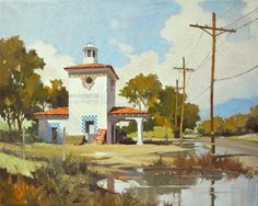 Robert Watts, California landscapes, Plein Air Landscapes, Seascapes, Cityscapes, Dessert Landscape paintings, Waterhouse Gallery, Santa Barbara Art Galleries