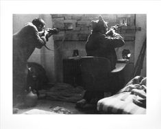 Noviembre Diciembre 1936, milicianos haciendo fuego foto R.Cappa