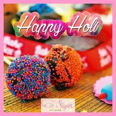 A very colourful and happy Holi to all of you! #holi #colourfulfestival #safeholi #mumbaiholi #fun #joy #sugarthepatisserie