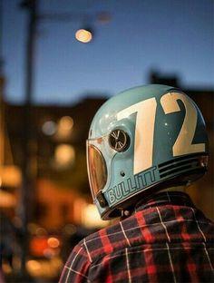 The Great Charm of Vintage Cars - Popular Vintage Cafe Racer Helmet, Cafe Racer Motorcycle, Motorcycle Style, Motorcycle Helmets, Motorcycle Outfit, Retro Helmet, Vintage Helmet, Custom Helmets, Custom Bikes