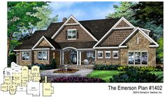The Emerson, plan 1402, is NOW AVAILABLE! In this design you will find a central utility room, large formal dining room, a pantry, and an e-space. http://www.dongardner.com/plan_details.aspx?pid=4666. #NewPlan #Craftsman #OneStory