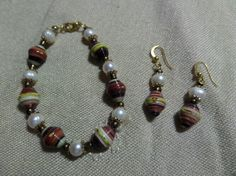 Paper beads and pearls