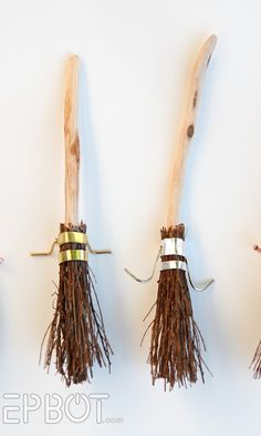 Time for more Harry Potter Christmas goodies! Next on our list, John and I made some fun Quidditch brooms for the tree: And here's...