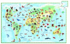 Föld állatai, 100 db-os megfigyelő puzzle - World& animals + booklet - 100 pcs - Djeco Jigsaw Puzzles For Kids, 100 Piece Puzzles, World Discovery, World Puzzle, Animal Puzzle, Les Continents, Christmas Catalogs, Animals Of The World, Animales