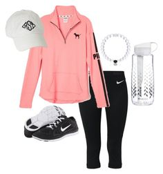 """You can feel sore or sorry tomorrow. You choose!!"" by anna-watson00 ❤ liked on Polyvore featuring NIKE and Brita"