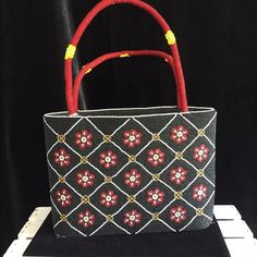 Vintage Beaded Handbag NWOThost pick SALE This beautiful beaded bag has red, yellow, white and black beading all over. Brand new , no tags, Bags