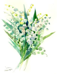 lily of the valley watercolor - Google Search