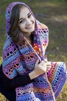 This Crocheted Prayer Shawl is a FREE Pattern!