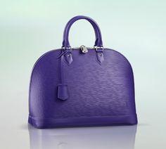 Louis Vuitton Epi Leather Alma Bag in Blue-Purple 'Fugue'.