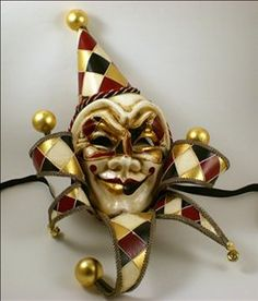 Visions of Venice / Venetian Masks / Venetian Jolly Masks / Venetian Clown Mask – Pagliaccio Clode