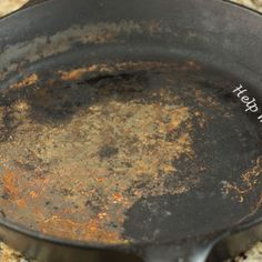 How To - Clean Cast Iron Skillet - it really works! Just cleaned up roast pork tenderloin perfectly & reseasoned.