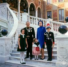Hello!-Newly Released Photos of Monaco's National Day-Prince Rainier and Princess Grace with their children Princess Caroline, Princess Stephanie and Prince Albert, 1967