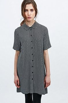 Cooperative by Urban Outfitters Tile Print Dress in Black - Urban Outfitters