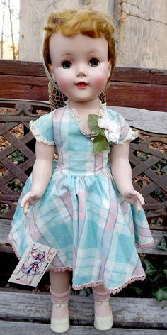 "Vintage MIB 24"" American Character Sweet Sue Hard Plastic In Original Box #Dolls"