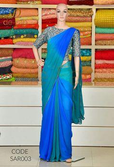 Fancy Sarees, Party Wear Sarees, Trendy Sarees, Stylish Sarees, Blouse Designs Silk, Saree Blouse Patterns, Plain Chiffon Saree, Plain Saree, Shiffon Saree
