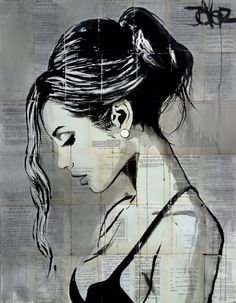 View LOUI JOVER's Artwork on Saatchi Art. Find art for sale at great prices from artists including Paintings, Photography, Sculpture, and Prints by Top Emerging Artists like LOUI JOVER. Art Pop, Pencil Portrait, Portrait Art, Newspaper Art, Arte Sketchbook, Art Drawings Sketches, Drawing People, Female Art, Collage Art