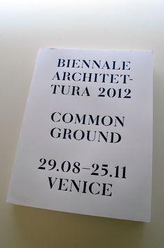 Biennale architettura 2012 : common ground - plaats : 715.9