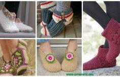 Crochet Women Slippers Free Patterns DIY Instructions & Tutorials