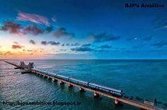 The Pamban Bridge, Rameswaram, Tamil Nadu