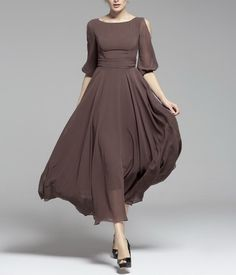 Spring+summer+chiffon+long+dress+lady+women+clothing+by+handok,+$86.00