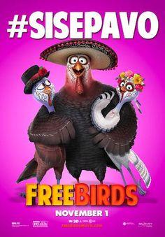 Viernes de cine... Así que ha llegado la hora de seguir la aventura de Free Birds, conócela aquí http://freebirdsmovie.com/ #SisePavo