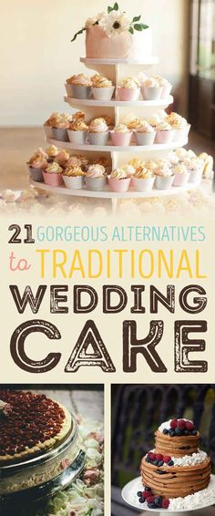 Wedding Food 21 Gorgeous Non-Traditional Wedding Dessert Ideas Some are really dumb. Few are awesome! - Have your macarons and eat them, too. Traditional Wedding Cakes, Traditional Cakes, Cake Table, Dessert Table, Dessert Ideas, Cake Ideas, Wedding Cupcakes, Wedding Desserts, Diy Wedding Reception