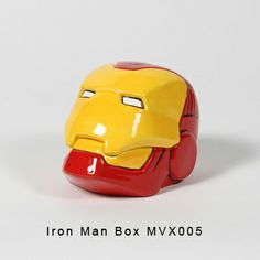 MVX 005 - Iron Man Box Iron Man Face, Paint Your Own Pottery, Ceramic Bisque, Pottery Painting, Hand Painted Ceramics, Rubber Duck, Box Design, Trinket Boxes, Painting Inspiration