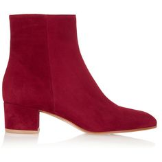 d692df1dc10 Gianvito Rossi Suede ankle boots ( 885) ❤ liked on Polyvore featuring shoes