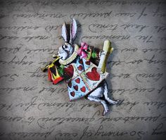 White Rabbit Brooch