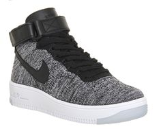 Buy Black White W Nike Air Force 1 Mid Flyknit from OFFICE.co.uk.