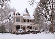 This victorian style home with it's gingerbread has a nostalgic charm and beauty that appeals to every traditional bit of my soul.