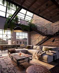 Loft style in the interior - Your house your reflection - . - Loft style in the interior – your house your reflection – space -